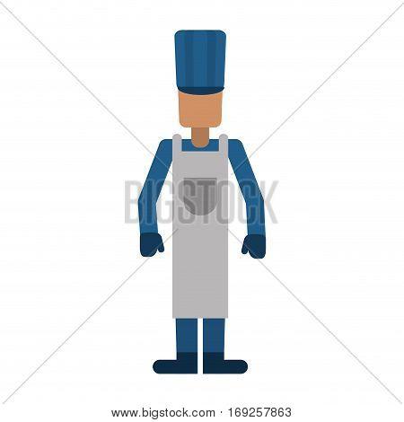 avatar man hat apron gloves worker vector illustration eps 10