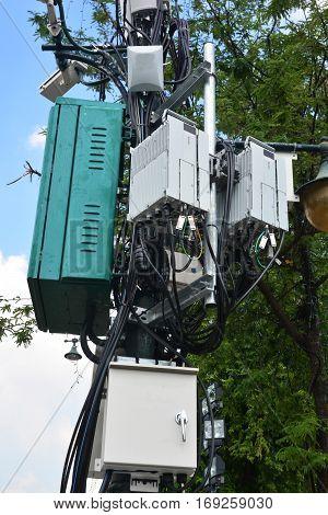 telecommunications box, internet, lan, wifi , cable