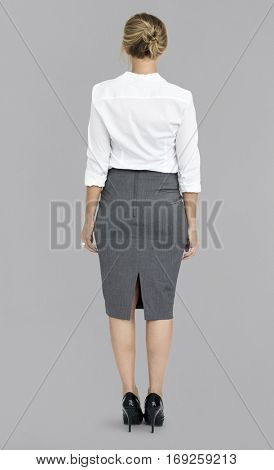 Woman Rear View Abstract Portrait Concept