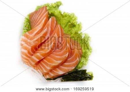 close up of sashimi sushi of look delicious of Japanese food.