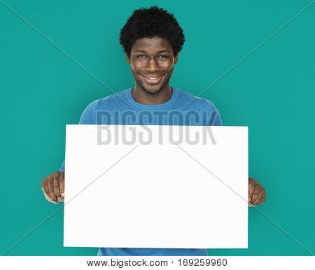 Man Smiling Happiness Banner Copy Space Portrait Concept
