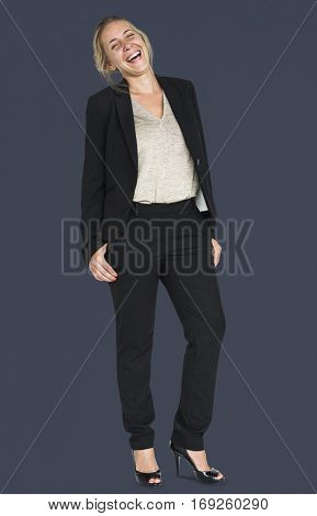 Businesswoman Smiling Happiness Portrait Concept