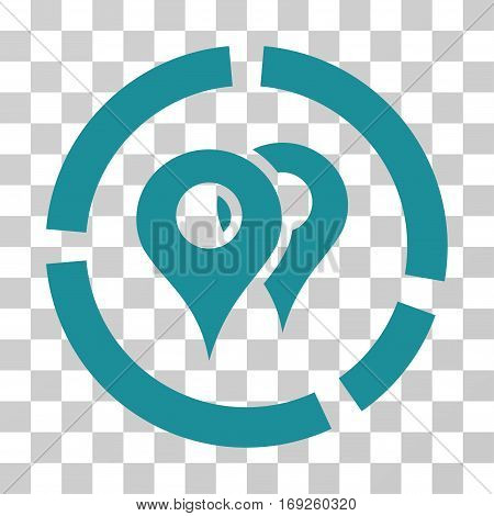 Geo Diagram icon. Vector illustration style is flat iconic symbol soft blue color transparent background. Designed for web and software interfaces.