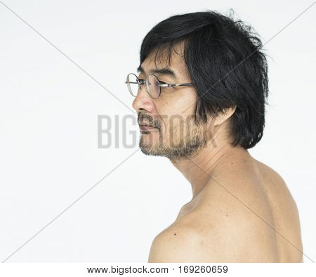 Male Guy Eyeglass Side view Concept
