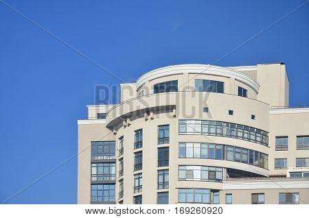 Multi-story Office Building With Blue Sky