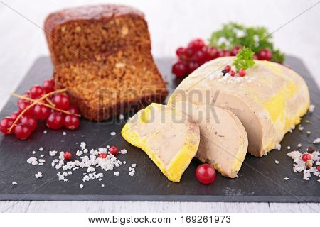 foie gras and redcurrant