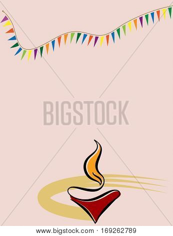 Diwali Greeting Design Raster Art