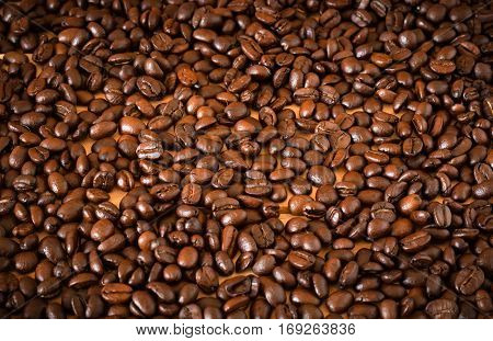 The Arabica And Robusta Coffee Beans, Selective Focus, Can Be Used As A Background