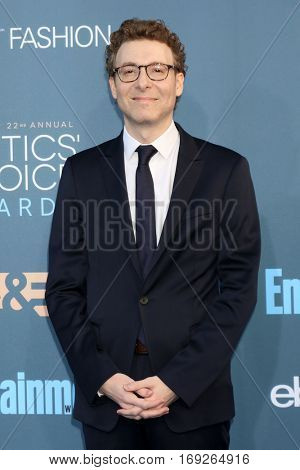 LOS ANGELES - DEC 11:  Nicholas Britell at the 22nd Annual Critics' Choice Awards at Barker Hanger on December 11, 2016 in Santa Monica, CA