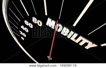 Mobility Speedometer Needle New Transportation Driving 3d Illustration