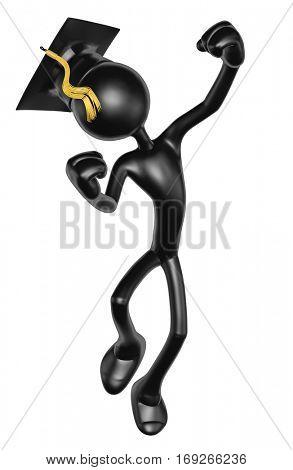 The Original 3D Character Illustration Graduate