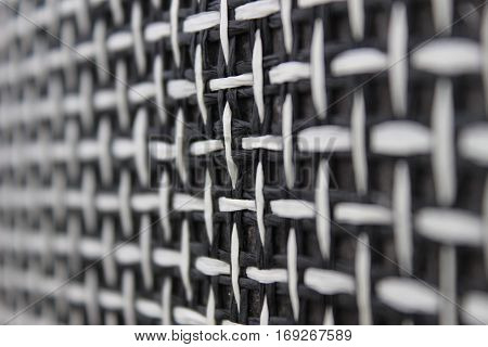 Fabric texture, black and white pattern background