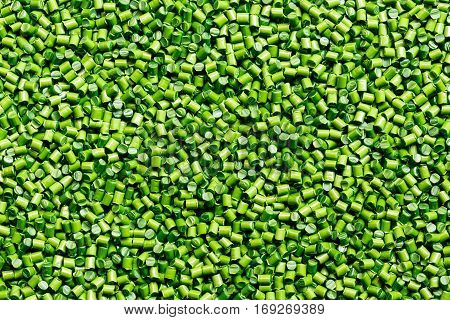green plastic resin ( Masterbatch ) for background poster