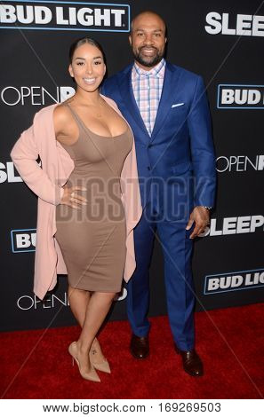 LOS ANGELES - JAN 5:  Gloria Govan, Derek Fisher at the