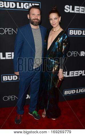 LOS ANGELES - JAN 5:  Baran Odar, Michelle Monaghan at the