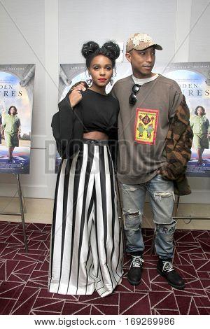 LOS ANGELES - JAN 4:  Janelle Monae, Pharrell Williams at the