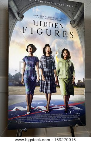 LOS ANGELES - JAN 4:  Hidden Figures Poster at the