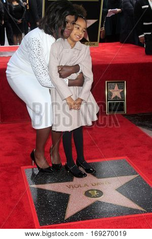 LOS ANGELES - JAN 5:  Viola Davis, Gensis Tennon at the Viola Davis Star Ceremony at Hollywood Walk of Fame on January 5, 2017 in Los Angeles, CA