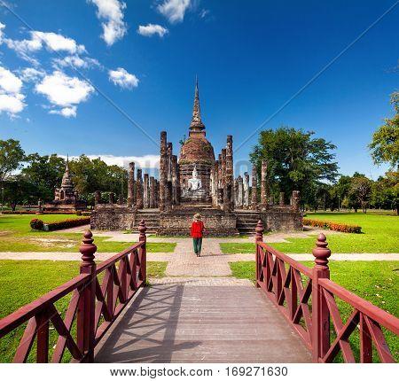 Buddha In Sukhothai Historical Park Of Thailand