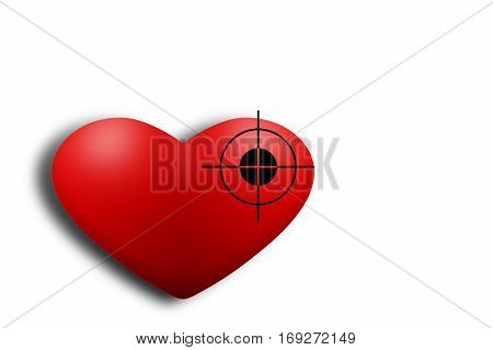 Red Heart Exposed Aiming To Shoot