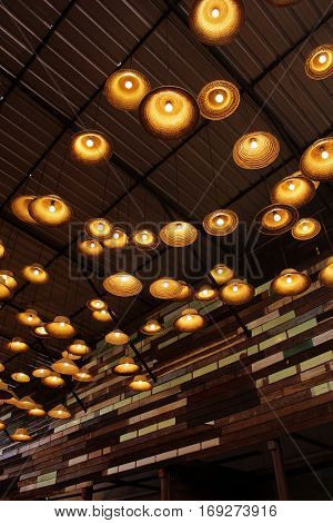 Lamps made of woven hats ideas Thailand