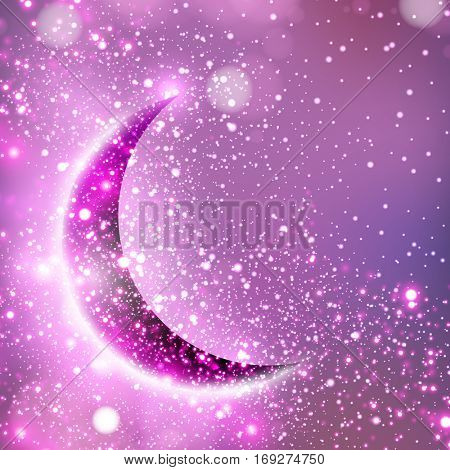 Moon ramadan and eid festival