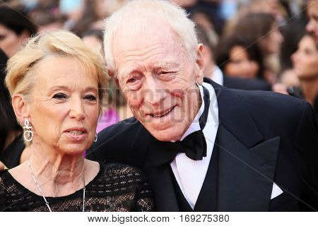 Max von Sydow attends he screening of 'The BFG' at the annual 69th Cannes Film Festival at Palais des Festivals on May 14, 2016 in Cannes, France.