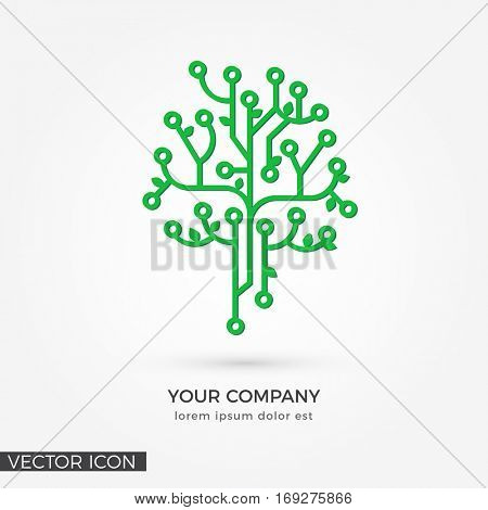 Circuit Tree , VECTOR LOGO / ICON