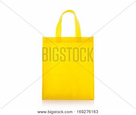 Yellow Cotton Bag. Studio Shot Isolated On White