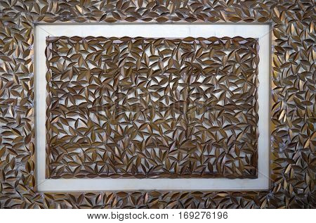 AGRA, INDIA - FEBRUARY 14: Wall decoration in hotel Four Points by Sheraton Agra, Uttar Pradesh, India on February 14, 2016.