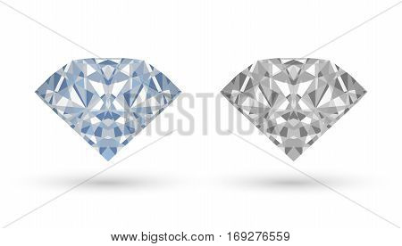 real diamond vector on a white background