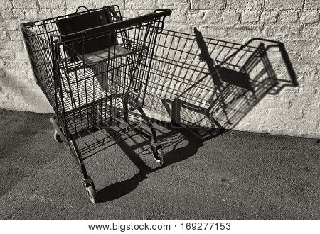 Average shopping Cart Lost in a Alley