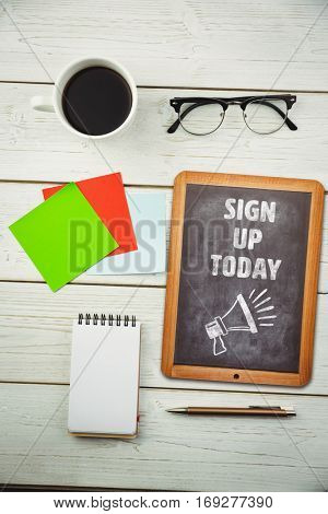 Sign up today against hipsters desk