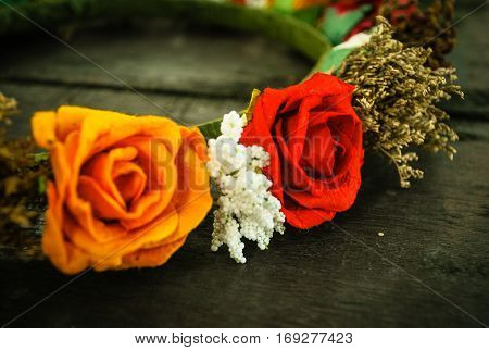 Diadem roses bouquet Flowers colorful and beauty