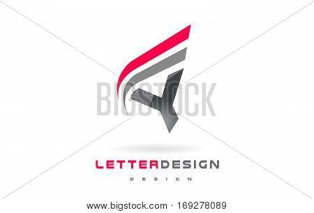 Y Letter Logo Design. Futuristic Modern Lettering Concept Vector.