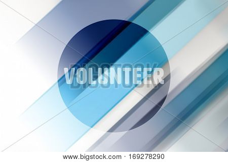 Volunteer against coloured lines