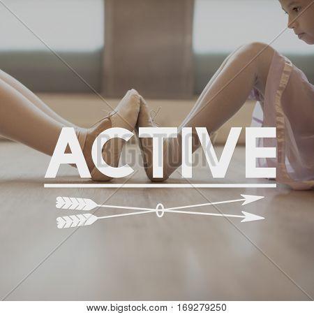Ballerina Recreation Dancing Hobby Rehearsal Concept