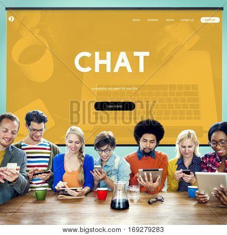 Internet Technology Social Media Concept