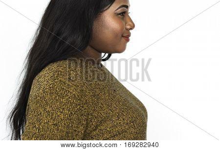 African Descent Woman Studio Concept