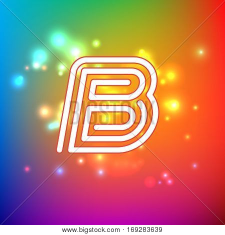 Color dynamic symbol for logo, emblem or text accent. Eps10 vector illustration