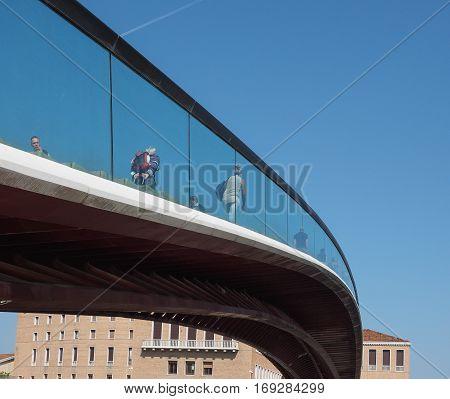 Ponte Della Costituzione In Venice
