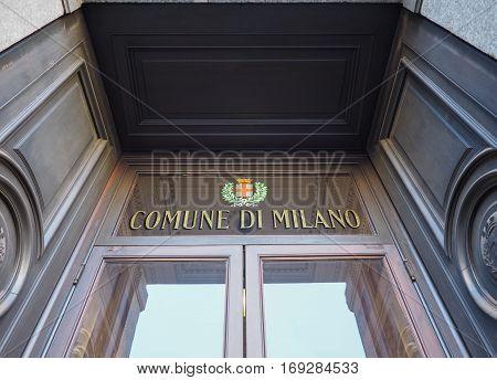 Comune Di Milano In Milan
