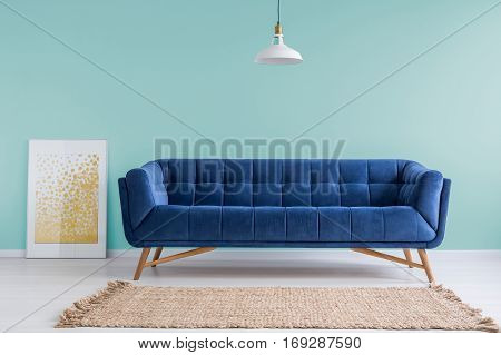 Mint Living Room With Sofa