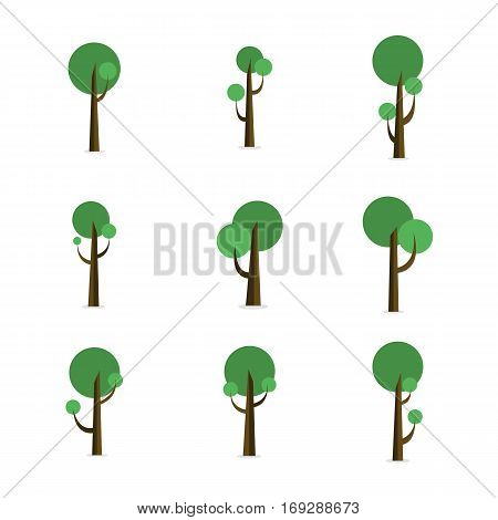 Set or green tree style collection stock