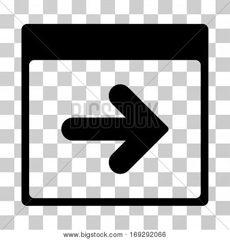 Next Calendar Day icon. Vector illustration style is flat iconic symbol black color transparent background. Designed for web and software interfaces.