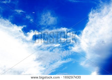 blue sky background with a tiny clouds texture
