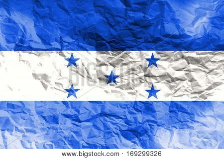 Honduras national flag 3D illustration symbol. Country in central america