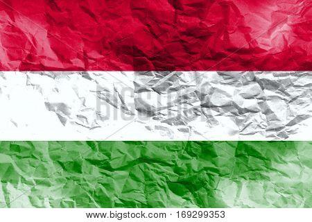 Hungary flag ,3D Hungary national flag 3D illustration symbol.