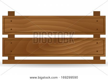 Empty wooden box for fruits and vegetables. Detailed vector illustration Isolated. Box for transportation and storage of products. Vector illustration of realistic wooden fruit box with holes. Fruit drawer front view. Crate isolated on white background.