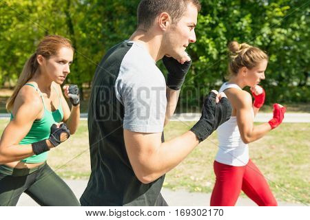 Taebo Team In Training